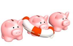 Help at financial recession. Conceptual image - help at financial recession Stock Photos