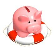 Help at financial recession. Conceptual image - help at financial recession Stock Photo