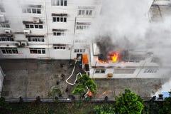 Help in Fire Emergency Stock Photos
