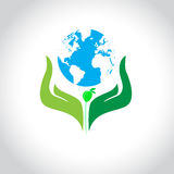 Help growing plants on earth. Vector illustration Stock Images