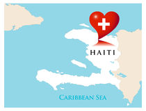 Help for Haiti. Vector illustration Royalty Free Stock Photos