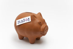 Help Haiti. A piggy bank - Donate to help Haiti Stock Photography