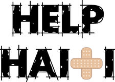 Help Haiti Text 4 Stock Photography