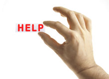 Help in Hand Royalty Free Stock Images
