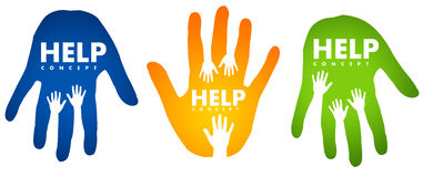 Help Hands Concept Stock Photo