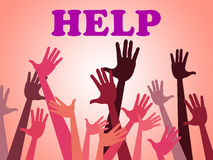 Help Hands Means Assistance Counseling And Question Royalty Free Stock Images
