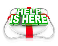 Help is Here Life Preserver Rescue Saving Life Royalty Free Stock Images