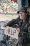 Help the homeless dirty man Royalty Free Stock Images