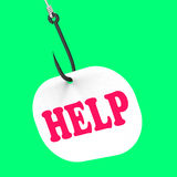 Help On Hook Means Customer Support Or Royalty Free Stock Photos