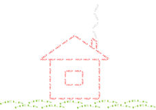 Help house. Concept illustration of help house (image include only the word HELP Royalty Free Stock Photography