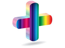 Help icon. Colorful help icon vector illustration Royalty Free Stock Photos