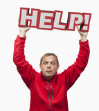 HELP icon Stock Photo