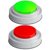 Help icon with red anf green buttons Stock Photography