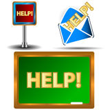 Help icons set Royalty Free Stock Photography