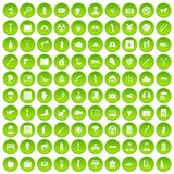100 help icons set green. 100 help icons set in green circle isolated on white vectr illustration Royalty Free Illustration