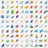 100 help icons set, isometric 3d style Royalty Free Stock Image