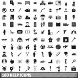 100 help icons set, simple style. 100 help icons set in simple style for any design illustration stock illustration