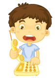 Help. Illustration of boy calling for help Royalty Free Stock Photos