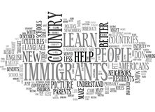 When We Help Immigrants We Help Ourselves Word Cloud. WHEN WE HELP IMMIGRANTS WE HELP OURSELVES TEXT WORD CLOUD CONCEPT stock illustration