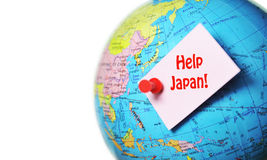 Help Japan. Concept related to the massive quake and tsunami which hit Japan on 11th March 2011 Stock Photos