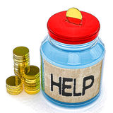 Help Jar Means Finance Aid Or Assistance Stock Images