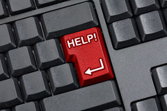 Help Key Empty Computer Keyboard Stock Image