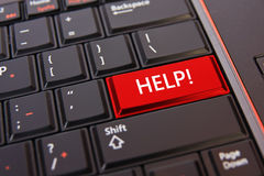 Help key on keyboard Stock Photo