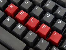 Help Keyboard Royalty Free Stock Photos