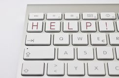 HELP! on keyboard Stock Images
