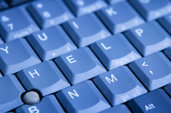 Help keyboard. Close up view of computer keyboard with help keys Royalty Free Stock Image