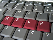 Help on a keyboard Stock Photo