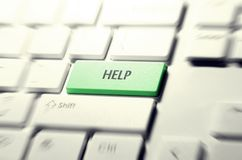 Help keyboard button Royalty Free Stock Images