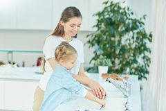 Help in the kitchen Stock Image