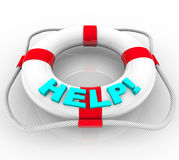 Help - Life Preserver stock images
