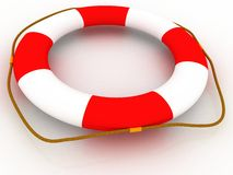 Help - Life Preserver Stock Image