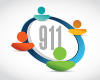 911 help line sign concept illustration. Design over white royalty free illustration