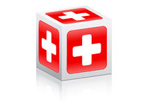 Help mark icon on box. Vector illustration royalty free illustration