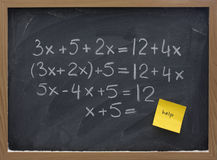 Help with math concept Royalty Free Stock Image