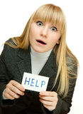 Help me! Royalty Free Stock Photo