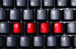 Help me. The word help visible on the keyboard Royalty Free Stock Photography