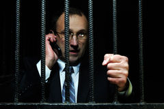 Help me behind bars Royalty Free Stock Images
