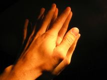 Help me god. Hands of a prayer Royalty Free Stock Photos
