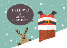 Help me and Merry Christmas Royalty Free Stock Photo