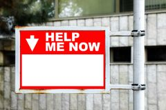 Free Help Me Now Sign Stock Photos - 46747263