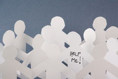 Help Me Paper People Stock Image