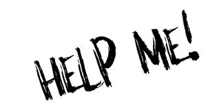 Help Me Rubber Stamp Royalty Free Stock Photography
