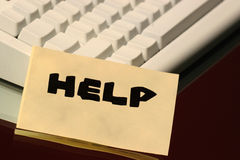 Help message. On the keyboard Stock Image