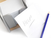 Help message stock image
