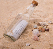 HELP Message In A Bottle II Stock Image