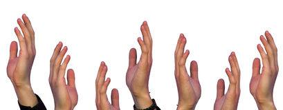 Help metaphore - many hands - Royalty Free Stock Photography